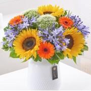 Sunflower and Agapanthus Vase