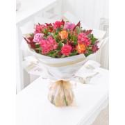 Autumn Rose & Alstromeria Hand-tied