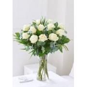 Enchanting Ivory Rose Vase