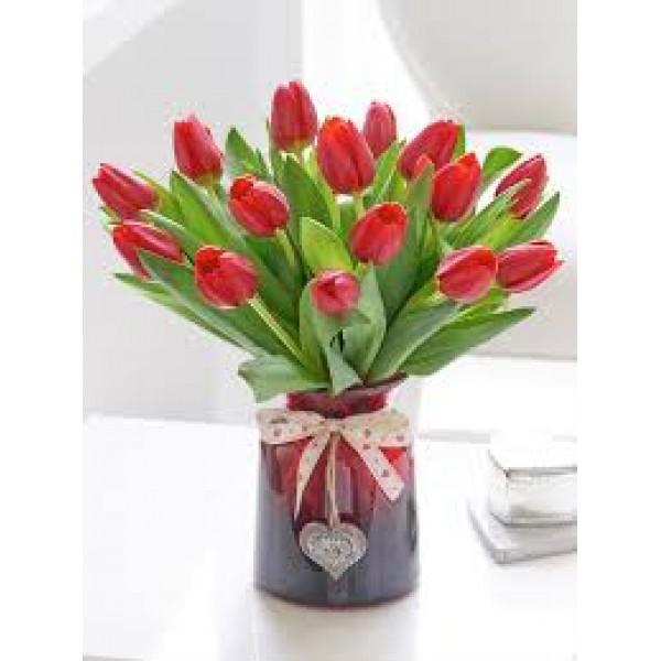 Perfect Love Tulip Vase