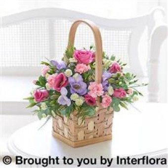 Scented Pink & Lilac Basket
