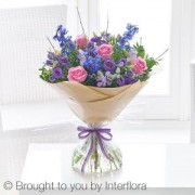 Precious Periwinkle Hand-tied