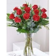 Romantic Red Rose Vase