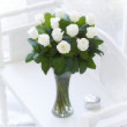 White Elegant Rose Vase